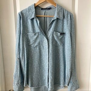 Calvin Klein Jeans Chambray Long Sleeve Tunic Sz M